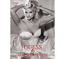 anna nicole smith guess ad gown Photographic Print