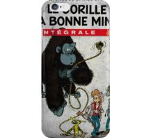 Le Gorille A Bonne Mine iPhone Case/Skin