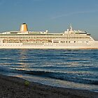 P&O's Aurora leaving Southampton Water, southern England by Philip Mitchell