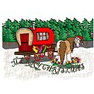 Gypsy Cob Christmas Card 1 by Diana-Lee Saville