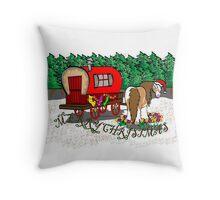 Gypsy Cob Christmas Card 1 Throw Pillow