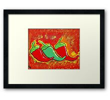Three Spicy Chilies Framed Print