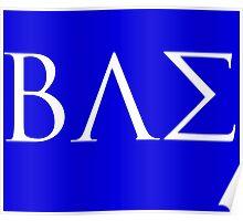 BAE White Logo Poster
