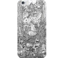 The Rock on Monster Island B/W iPhone Case/Skin