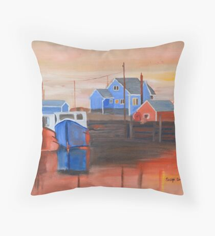 Peggy's Sunset Throw Pillow