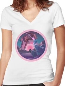 VaporWolf Hunt Women's Fitted V-Neck T-Shirt
