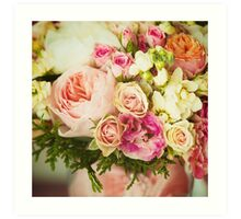 Wedding flowers. Instagram effect, vintage colors. Art Print