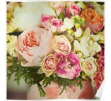 Wedding flowers. Instagram effect, vintage colors. Poster