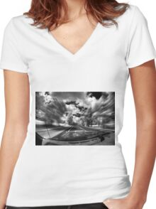 Engage warp drive Women's Fitted V-Neck T-Shirt