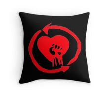 Rise Against Heart Fist Clean Look Red Throw Pillow