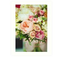 Gentle bouquet. Instagram effect, vintage colors. Art Print