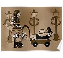Steam Punk Sausage Dog Poster
