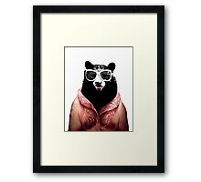 Fashion Bear Framed Print