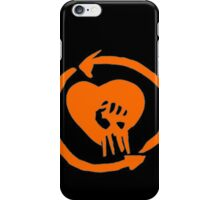 Rise Against Heart Fist Clean Look Orange iPhone Case/Skin
