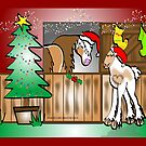 Gypsy Cob Christmas Card 4 by Diana-Lee Saville