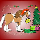 Gypsy Cob Christmas Card 5 by Diana-Lee Saville