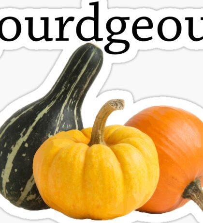 gourdgeous 2 Sticker