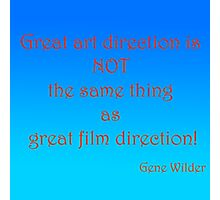 Great Art, Great Film - Gene Wilder Photographic Print