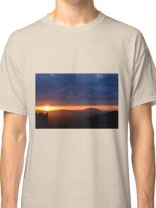Sunset near the church in Assisi Classic T-Shirt