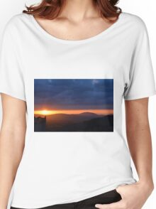 Sunset near the church in Assisi Women's Relaxed Fit T-Shirt