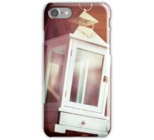 Old-fashioned classic white lantern. iPhone Case/Skin