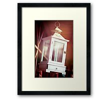 Old-fashioned classic white lantern. Framed Print