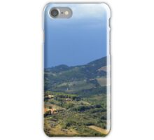 Hills from Assisi and cloudy sky iPhone Case/Skin