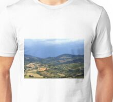 Hills from Assisi and cloudy sky Unisex T-Shirt