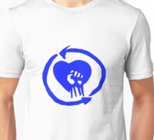 Rise Against Heart Fist Clean Look Blue Unisex T-Shirt