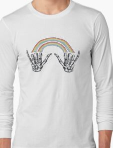 1D Louis Tomlinson Rainbow Hands Tattoo Long Sleeve T-Shirt