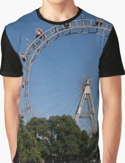 Riesenrad, Wien Österreich Graphic T-Shirt