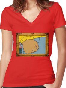 The Arthur Fist Women's Fitted V-Neck T-Shirt