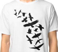 Flying Birds - black Classic T-Shirt
