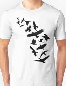Flying Birds - black Unisex T-Shirt