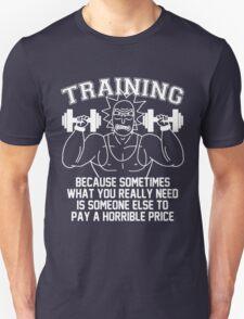 Training for revenge -white Unisex T-Shirt