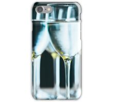 Pure drinking water in glasses iPhone Case/Skin