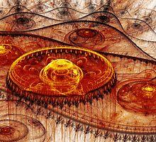 Fiery fantasy landscape by MartinCapek