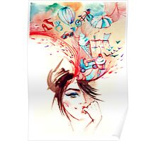 abstraction girls Poster