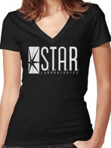 star lab Women's Fitted V-Neck T-Shirt