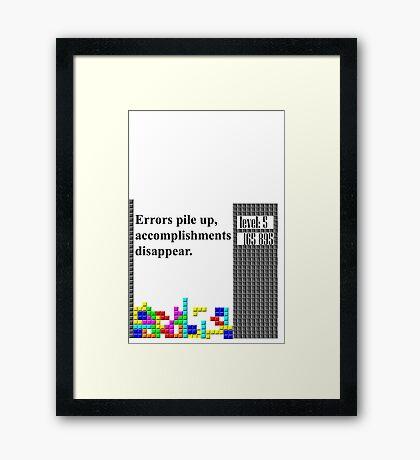 tetris philosophy Framed Print