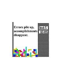 tetris philosophy Photographic Print