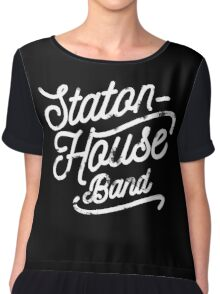 Staton-House Band Chiffon Top