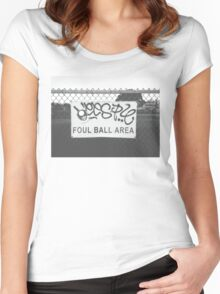 Foul Ball Area Women's Fitted Scoop T-Shirt