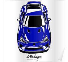 Lexus LFA (blue) Poster