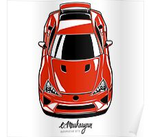 Lexus LFA (red) Poster