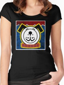 Fisher Price Dog Pop Art Women's Fitted Scoop T-Shirt