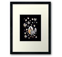 Retro Chickens And Eggs Framed Print