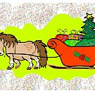 Mini pony Christmas card by Diana-Lee Saville