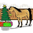 Arab Pony Christmas Card by Diana-Lee Saville
