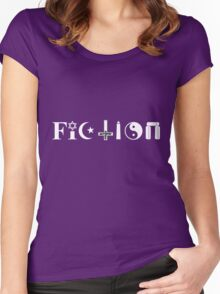 Fiction (white text) Women's Fitted Scoop T-Shirt